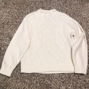 Everlane mock neck chunky sweater